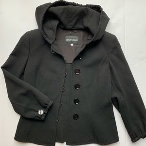 Amazing Giorgio Armani Hooded Blazer Jacket 38 2